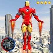 Скачать Super Iron Rope Hero - Fighting Gangstar Crime (Взлом на монеты) версия 3.6 apk на Андроид